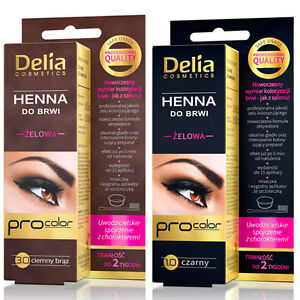 Delia Eyebrows Tint Gel Henna Brown Black 0 Ammonia Ppd Ebay