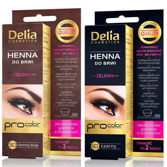 DELIA   EYEBROWS TINT GEL  HENNA BROWN /BLACK