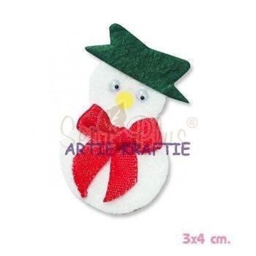 3 GREEN HAT SNOWMAN DIE CUTS FOR CARDS OR CRAFTS
