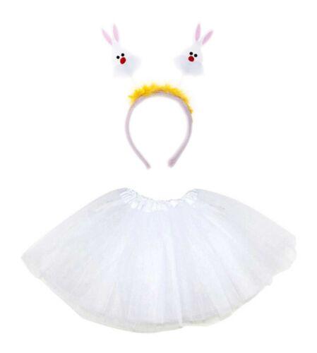 Kids Easter Bunny Tutu Déguisement Lapin Oreilles Set Accessoire Lot UK