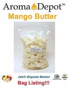 Raw Mango Butter 100% Organic Natural Pure 2 oz. to 10 lb. Free Shipping