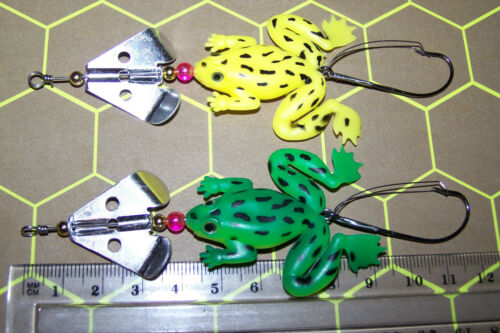 Bass #A * spinnerbait /& Topwater FROG FISHING LURES SOFT PLASTIC x5 Trout