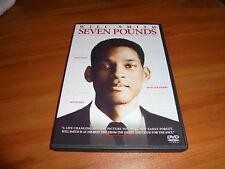 Seven Pounds (DVD, Widescreen 2009) Will Smith, Rosario Dawson Used 7
