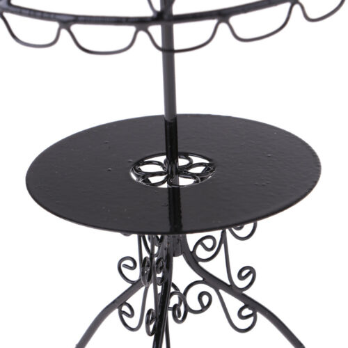 Dolls House Outdoor Garden Furniture Black Metal Table Chairs Model Set 1//12