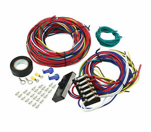 image is loading 6-circuit-universal-car-wiring-harness-w-instructions-