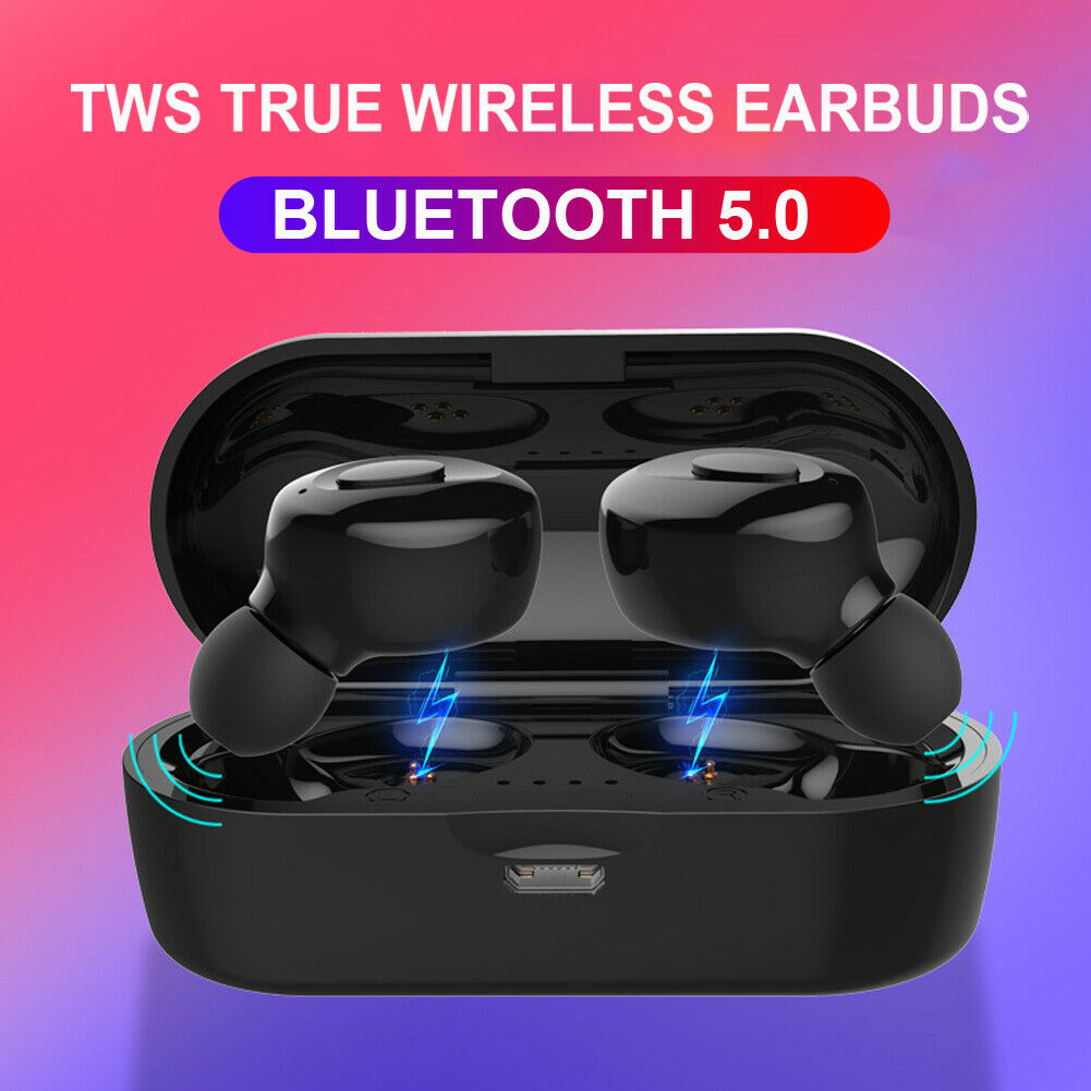 Bluetooth 5 0 Headset Tws Wireless Earphones Twins Earbuds 5d Stereo Headphones Ebay