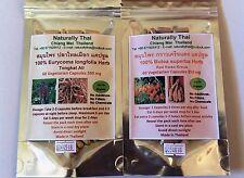 Organic Tongkat Ali + Butea superba Combo Pack - 120 Veg Capsules Sexual Health