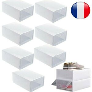 6-24 Boîte à Chaussures Plastique Housse Tiroir Stockage Empilable Rangement