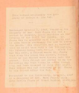 1843-The-Remains-of-the-Rev-James-Marsh-Memoir-Civil-War-Provenance
