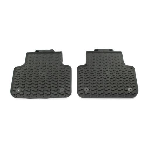 Original Audi Q8 SQ7 Gummi Fußmatten hinten Gummimatten Allwettermatten schwarz