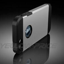 iPhone 5 5S 5G case, 2 in1 Hybrid High Impact Hard Metallic Base+Silicone Case
