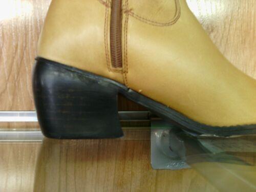 nuova taglie pelle cubano cerniera beige e donna cowboy tacco Stivali da in nuove con Hq6OwPF1n