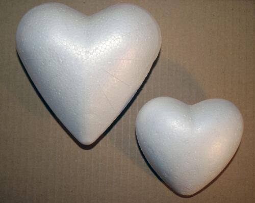 Styropor Forma De Corazón Sólido POLIESTIRENO para artesanías y arte floral 9 Cm o 12 Cm