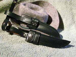 Solinger Bayernmesserscheide. Messerscheide für Jagdnicker Messer 11 cm Klinge
