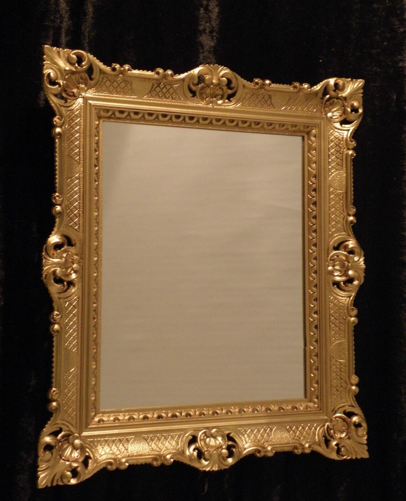 Baroque Miroir Mural or salle de bain BAR 90x70 rectangulaire antique