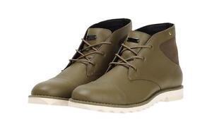 Adidas de Botas Plateado Zapatos Us Desierto Piel Detalles Cordones 12 D con Hombre Branding 8wN0nOPkX