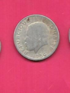 HAITI-HAITIAN-KM61-1956-FINE-NICE-OLD-VINTAGE-LARGE-10-CENTIMES-COIN