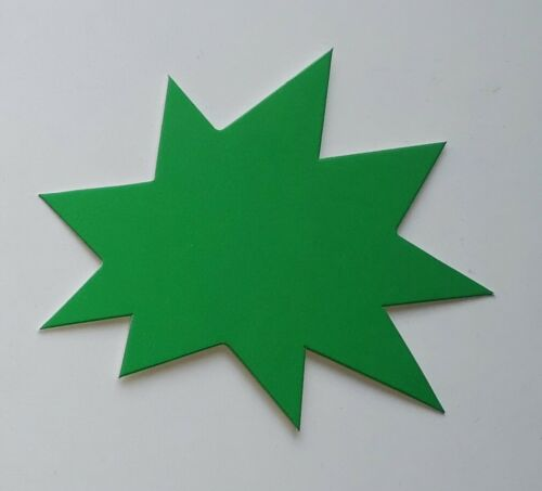 Sterne 6,2x7,5 cm Preisschilder aus Karton 380g//qm Werbesymbol  deko neon