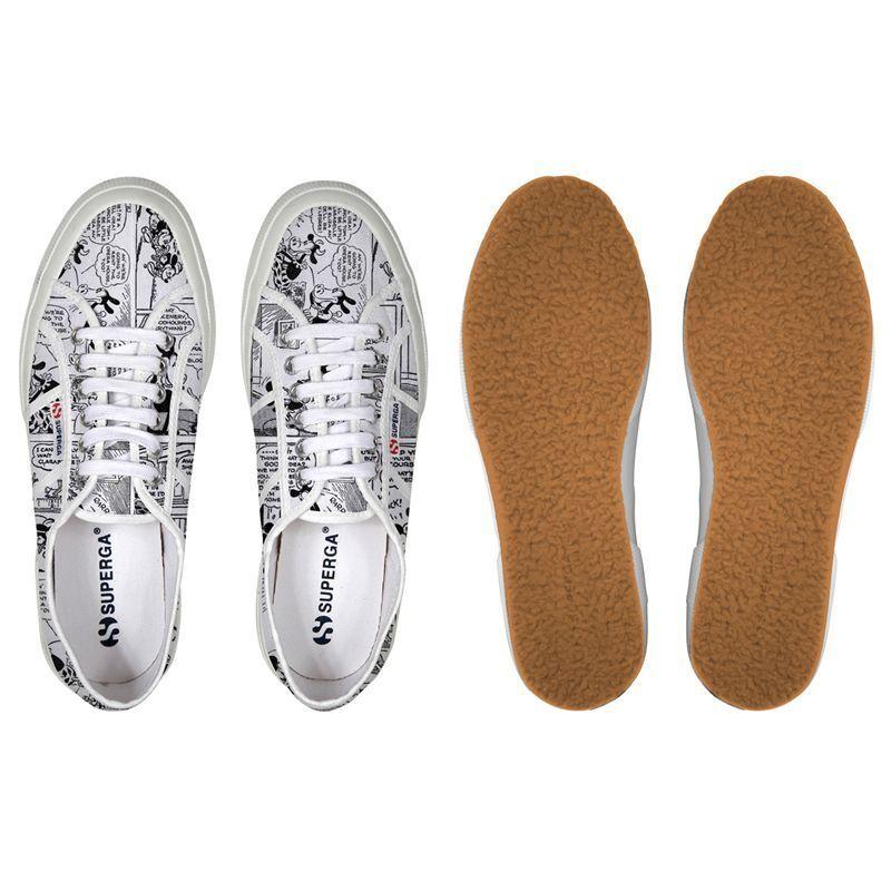 scarpe SUPERGA cartoon 2750 F90 DISNEY COMIC 1 COTU F90 2750 COMICS WHITE FUMETTI S002b50 26d191