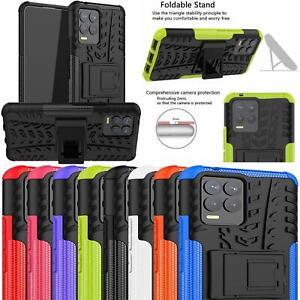Para Realme 8/Realme 8 Pro caso, delgada armadura a prueba de impactos de pie cubierta de teléfono duro