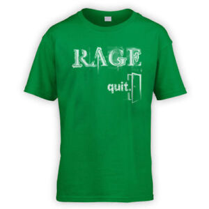 Details about Rage Quit Kids T-Shirt -x10 Colours- Funny Gaming FPS Troll  Lag Gamer Rekt LOL