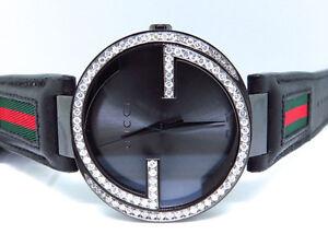 b7325a5c8dd Mens Gucci Black PVD 42 MM XL Interlocking GG Diamond Watch 2.0ct ...