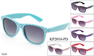 Kids-Polka-Dots-Sunglasses-Classic-Boys-Girls-Party-Events-Lead-Free-UV-100