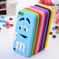 Colour m&m Silicone Rubber Case Cover Skin For iPod Touch 6