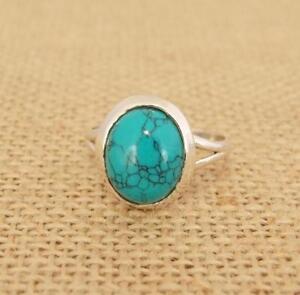 Détails sur Ovale Howlite Turquoise Argent 925 Bague Bijoux Indien Tailles  Diverses