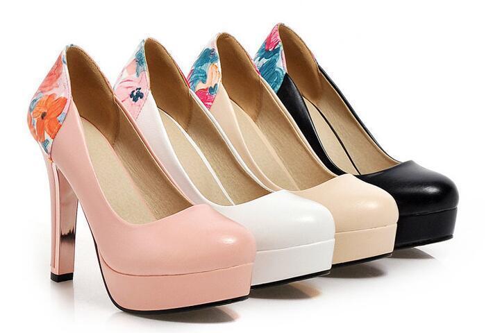 Chaussures éscarpin tipo dentelle talon 12 cm noir blanc rose noir beige 8551