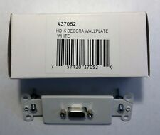 White 1 VGA Coupler and 3 RCA Couplers  301-4001 Decora Wall Plate Insert