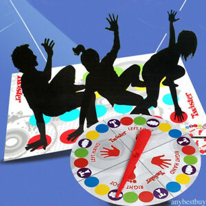 Funny Kids Adult Body Twister Moves Mat Board Game Group Outdoor
