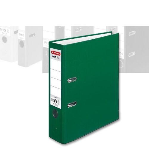 Rückenbreite 80 mm Herlitz Ordner maX.file protect A4 grün mit PP-Bezug