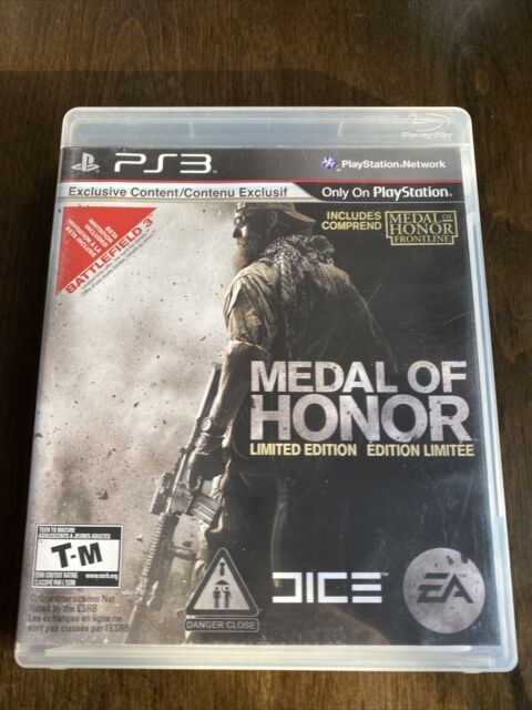 PS3 Metal of Honor Limited Edition Sony PlayStation 3 Complete Very Good Con