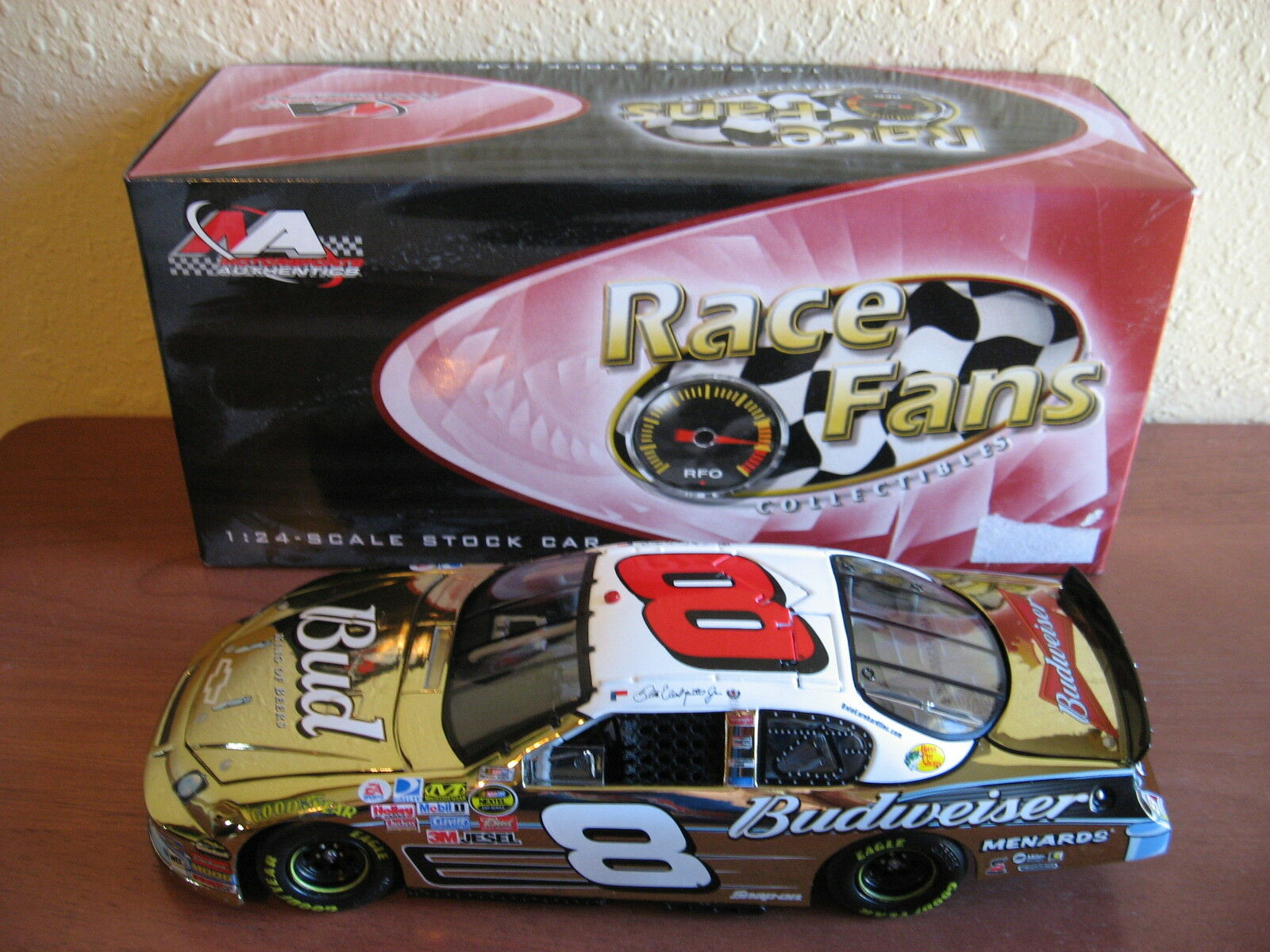 2007 Dale Earnhardt Jr Bud 57 Chevy 50th Anniversary 1 24 Action gold Chrome