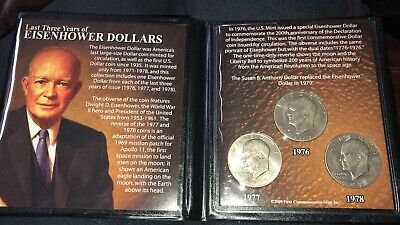 1974 P BU Eisenhower Ike Dollar From Mint Set With DIY Slab Combined Shipping