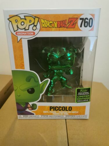 Dragon Ball Z-Piccolo VERT CHROME eccc Exclusive 760 Funko Pop