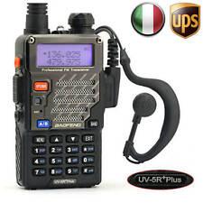 BaoFeng UV-5R Plus VHF UHF 2M/70cm 5Km RICETRASMITTENTE FM Walkie Talkie EU Plug