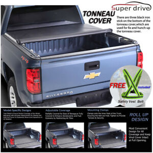 Premium Tri Fold Tonneau Cover For 2015 2018 Ford F 150 8 Ft 96 Long Bed Cover Auto Parts Accessories Truck Bed Accessories