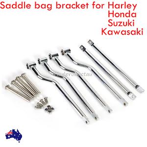 NEW Saddle bag Support Bars Mounts Bracket Kawasaki Honda Yamaha Suzuki Harley