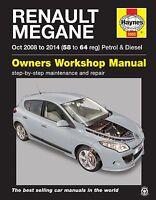 Renault Megane Repair Manual Haynes Workshop Service Manual  2008-2014