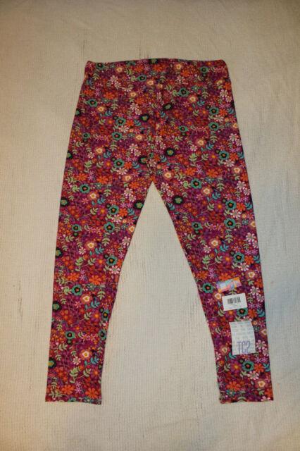 NWT Lularoe TC Leggings Pink Purple Cream Floral Sunflowers Daisies
