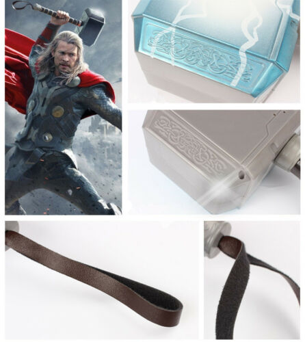 Avengers LED Glowing And Sounds Thor Hammer Helmet Mask  Kids Cosplay Toys