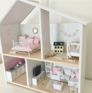 Wooden Doll House Systems From Australia White Ebay