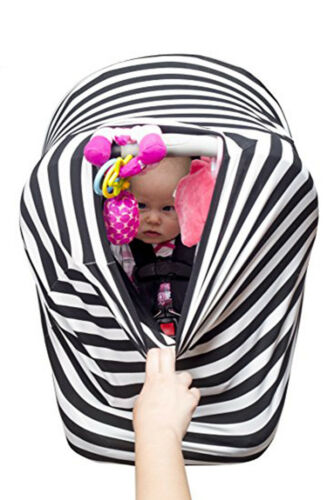 Baby Car Seat Canopy 4in1 Universal Stretchy Nursing Cover Winter Warm Windproof