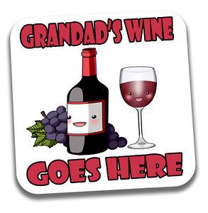 Grandad-039-s-Drink-Coaster-Birthday-Fathers-Day-Christmas-Fun-Grandad-Gift