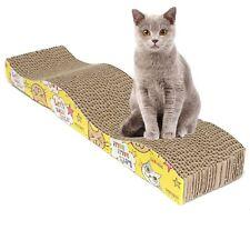 S-Shaped Cat Kitten Corrugated Scratch Board Pad Scratcher toy