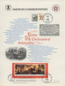 67-13c-Declaration-of-Independence-1691-94-USPS-Commemorative-Stamp-Pl-w-3FDC