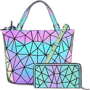 Hot-One-Color-Changes-Geometric-Luminous-Purses-and-Handbags-Holographic-Purse