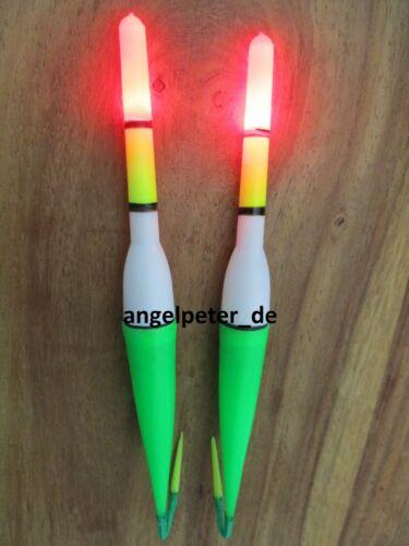 2Pc Fishing Float Light Stick Led Leuchtschwimmer für dunkle Nacht Angeln KW CH